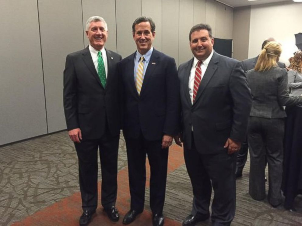 PHOTO: Alex Triantafilou, right, is seen here with Rick Santorum.