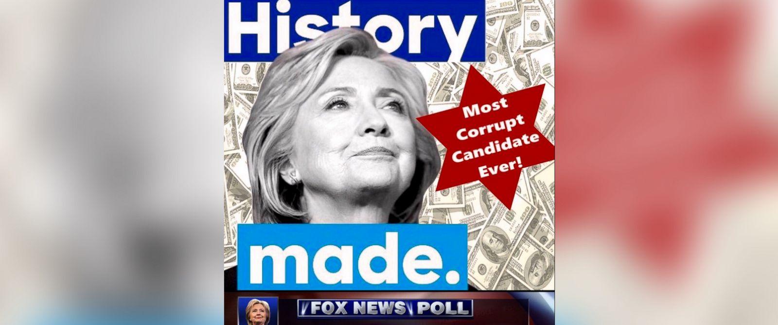 news world donald trump tweets racist meme with hillary clinton star david