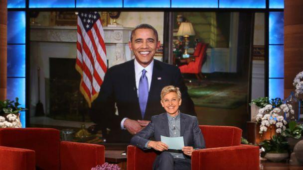HT ellen barack obama jtm 140320 16x9 608 Obama Jokes With Ellen About Her Pretty Cheap Stunt