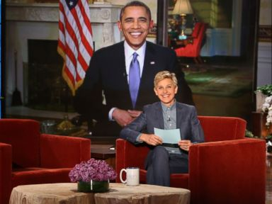 Obama Jokes With Ellen About Her 'Cheap Stunt'