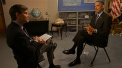 PHOTO: President Barack Obama sits down with George Stephanopoulos on This Week