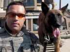 PHOTO: U.S. Army Staff Sgt James Harrington and Military War Dog Ryky