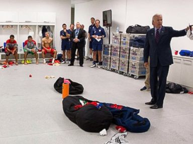 Biden Visits the World Cup: 'This Is a Kick, Man'