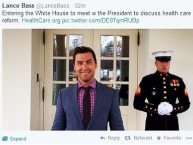 Lance Bass at White House to Plug Obamacare, but Has 'Brain Fart'