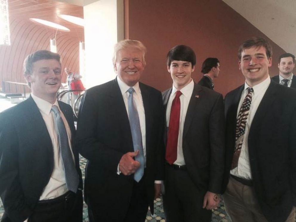 PHOTO: Luke Elliott, left, is seen here with Donald Trump.