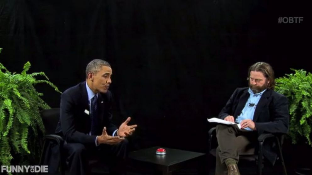 PHOTO: President Barack Obama sits down with Zach Galifianakis for Episode 18 of Between Two Ferns, published March 11, 2014.