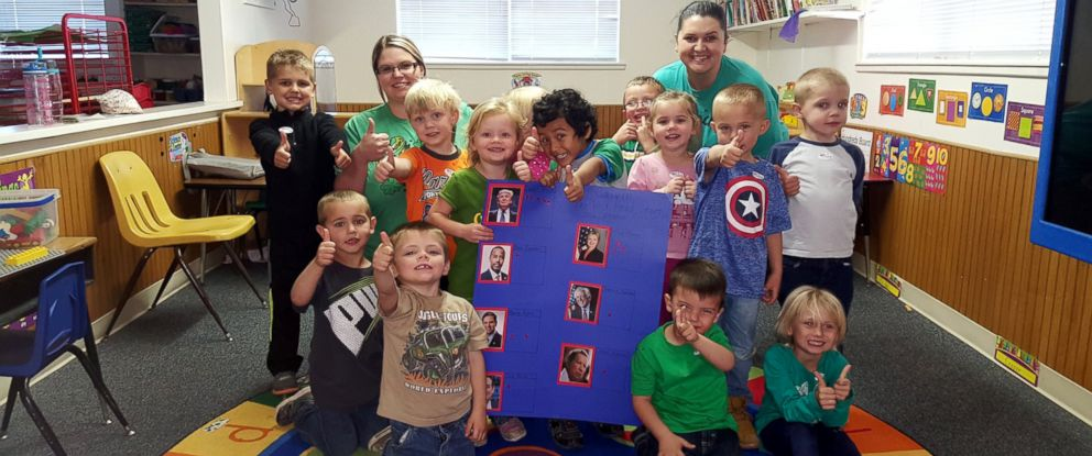 PHOTO: Toddlers from a Head Start pre-school in rural Oklahoma decided to hold their own caucus on Super Tuesday.