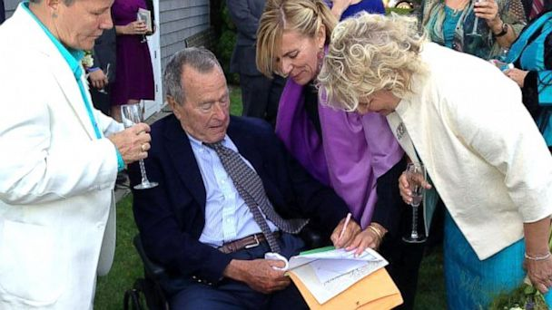 HT president bush marriage license nt 130925 16x9 608 George H.W. Bush Witnesses Same Sex Wedding