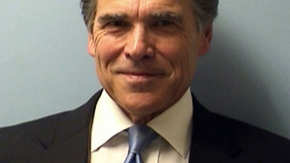 PHOTO: Texas Gov. Rick Perry is seen in this booking photo released by the Travis County Sheriffs Office, Aug. 19, 2014.