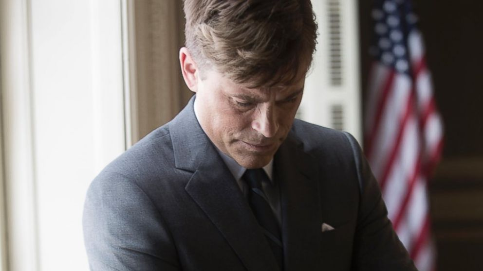 """PHOTO: Rob Lowe as President John F. Kennedy on the set of National Geographic Channels """"Killing Kennedy."""""""