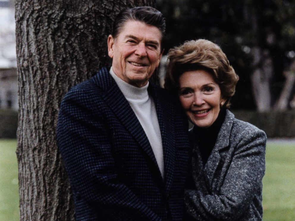 PHOTO: President Reagan and first lady Nancy Reagan pose on the White House South Lawn for a casual official portrait, Nov. 22, 1981.