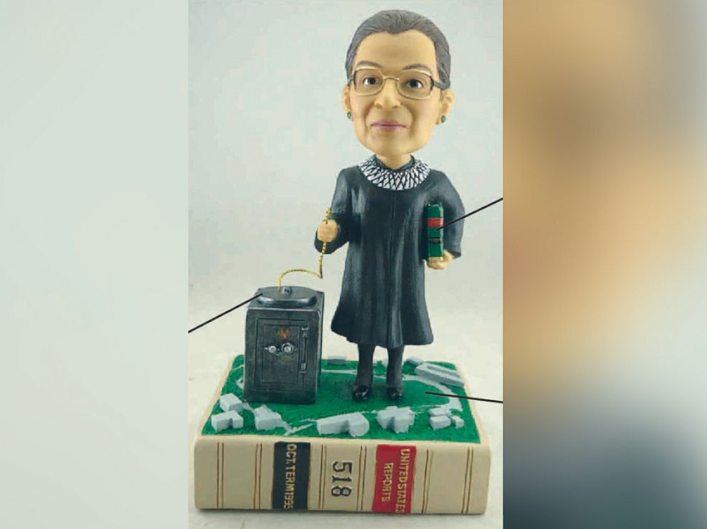 PHOTO: The Law Journal, Green Bag, has been making bobblehead versions of Supreme Court Justices since 2003. It introduced the Ruth Bader Ginsburg bobblehead in 2012.