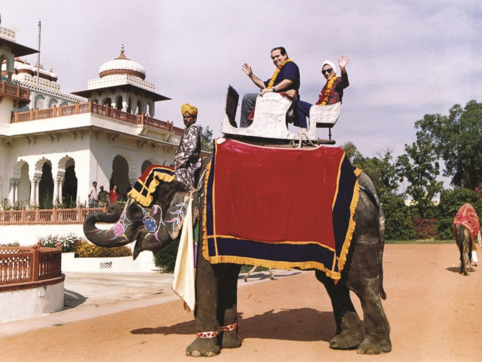 This image of Justices Antonin Scalia and Ruth Ginsburg riding a elephant in India in 1994 appears in the book, Notorious RBG: The Life and Times of Ruth Bader Ginsburg.