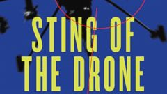 "PHOTO: Richard A. Clarke shows the cover design of ""Sting of the Drone""."