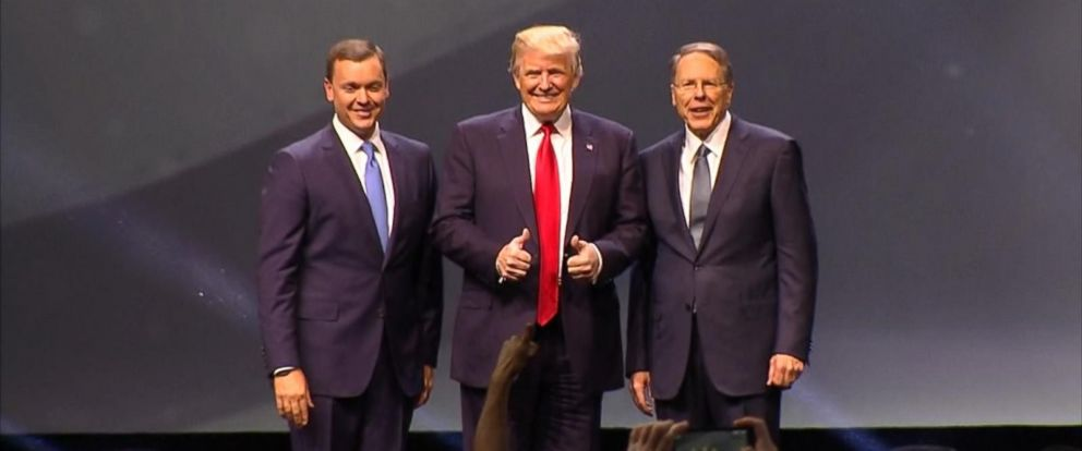 PHOTO: Donald Trump addressed the National Rifle Association (NRA), May 20, 2016.