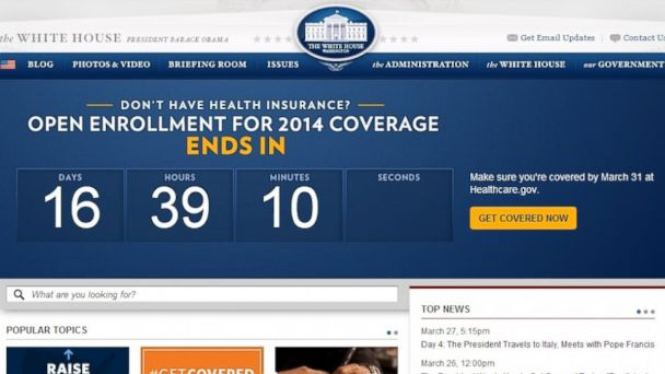HT white house countdown clock tk 140331 16x9 608 Obamacare Surge Staggers Computers, Delights White House