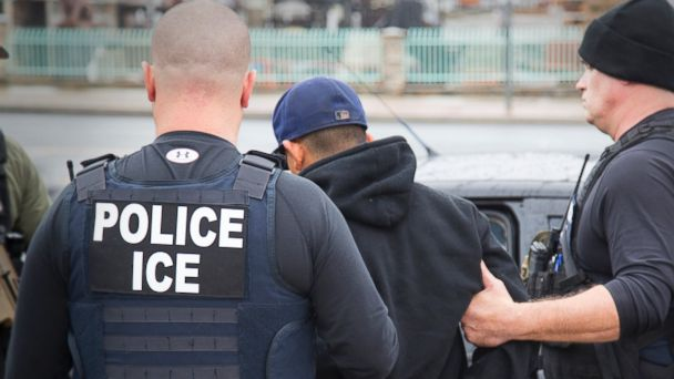 PHOTO: U.S. Immigration and Customs Enforcement (ICE) agents arrest an individual during a targeted enforcement operation, Feb. 7, 2017, in Los Angeles.