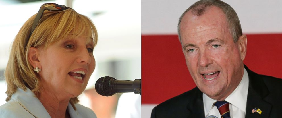PHOTO: Candidates for New Jersey Governor, Republican Kim Guadagno and Democrat Phil Murphy.