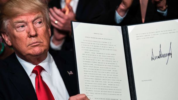 Trump signs the executive order initiating the monuments review