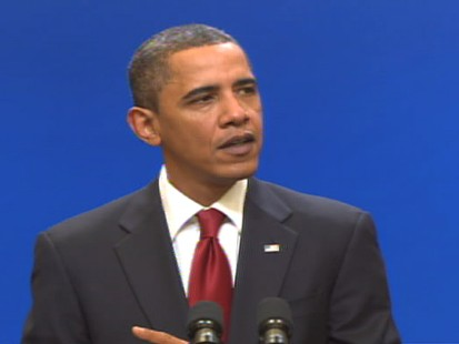 Video of President Barack Obama vowing more help for middle class.