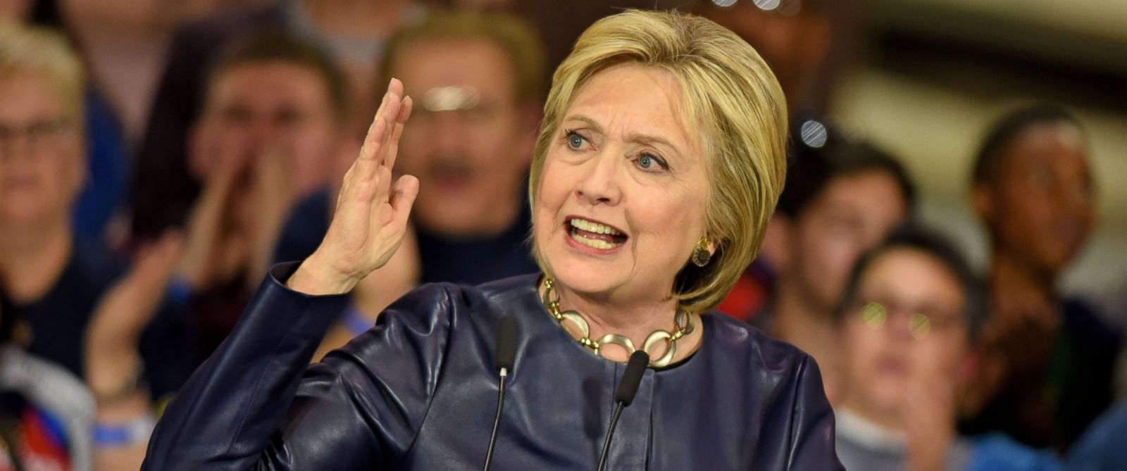 PHOTO: Democratic presidential candidate Hillary Clinton held a campaign rally, March 12, 2016, in Cleveland.