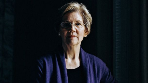 PHOTO: Sen. Elizabeth Warren in New York City, April 20, 2017.
