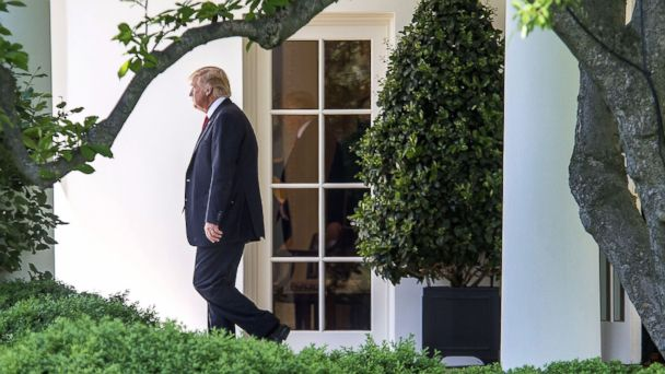 PHOTO: President Donald Trump departs the White House heading to Atlanta, GA to speak at the NRA (National Rifle Association) conference, April 28, 2017.