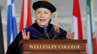 Clinton delivers stinging critique of Trump in Wellesley College commencement address