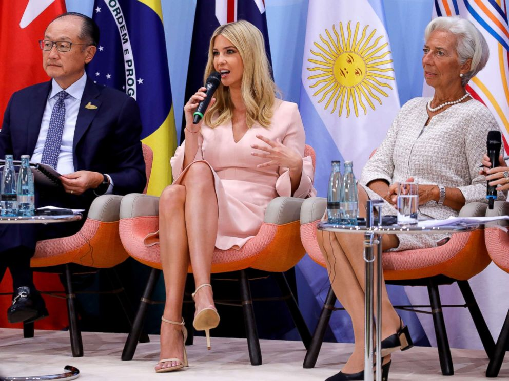 Image result for Ivanka sits in for Trump at G20