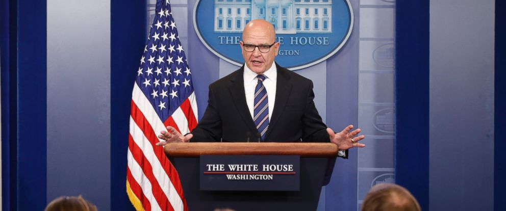 PHOTO: White House national security adviser H.R. McMaster speaks in the White House briefing room in Washington, May 16, 2017.