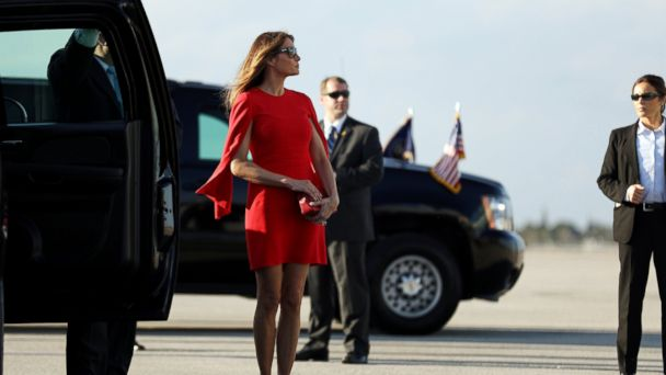 PHOTO: First Lady Melania Trump at West Palm Beach International airport in West Palm Beach, Florida, Feb. 3, 2017.