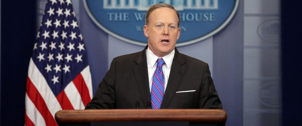 PHOTO: White House Press Secretary Sean Spicer holds the daily press briefing at the White House in Washington, March 8, 2017.