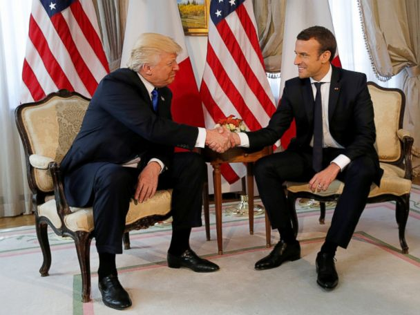 Macron says Trump handshake was 'moment of truth'
