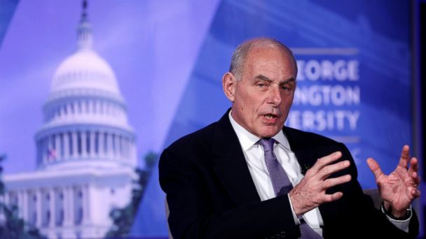 PHOTO: Secretary of Homeland Security John Kelly speaks at an event entitled