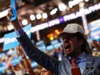 PHOTO: A supporter of former Democratic U.S. presidential candidate Sen. Bernie Sanders cheers as Sanders speaks during the first session at the Democratic National Convention in Philadelphia, July 25, 2016.