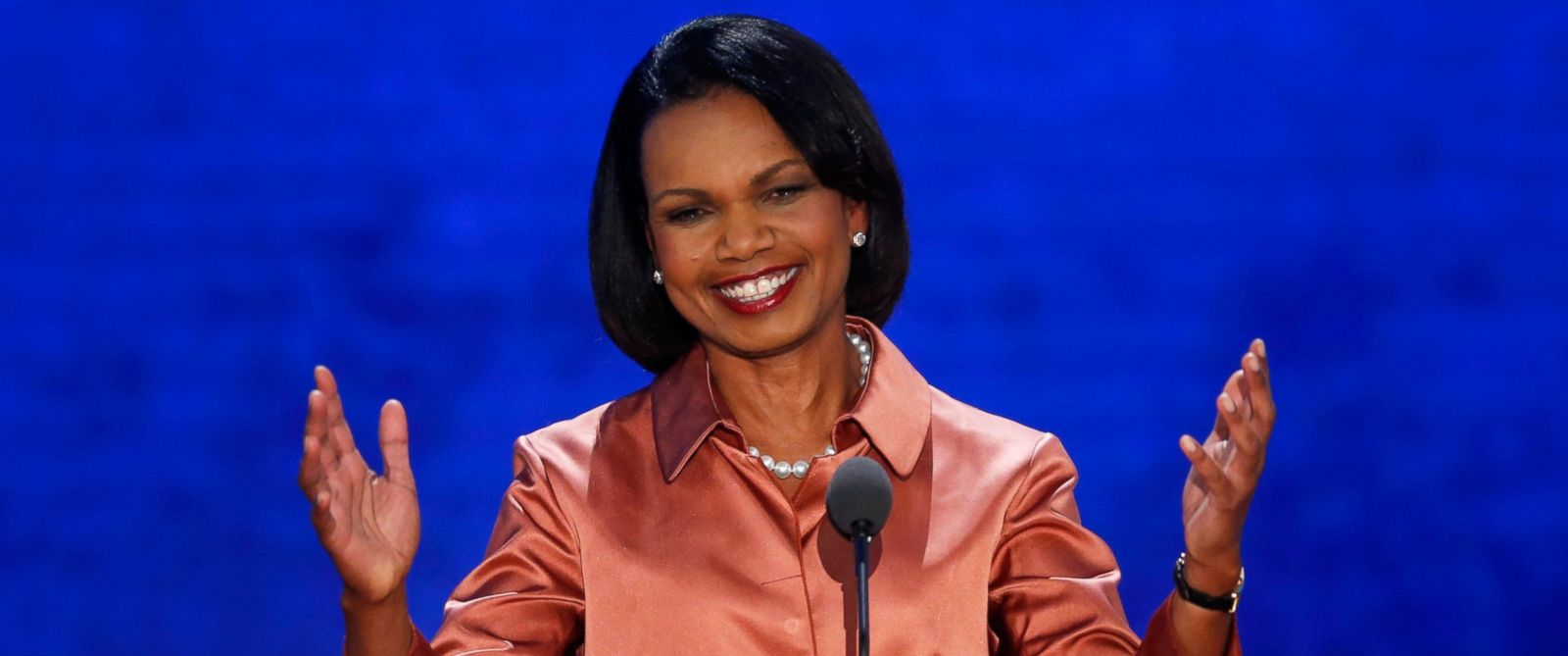 PHOTO: Former Secretary of State Condoleezza Rice arrives to address delegates during the third session of the Republican National Convention in Tampa, Fla., in this Aug. 29, 2012, file photo.