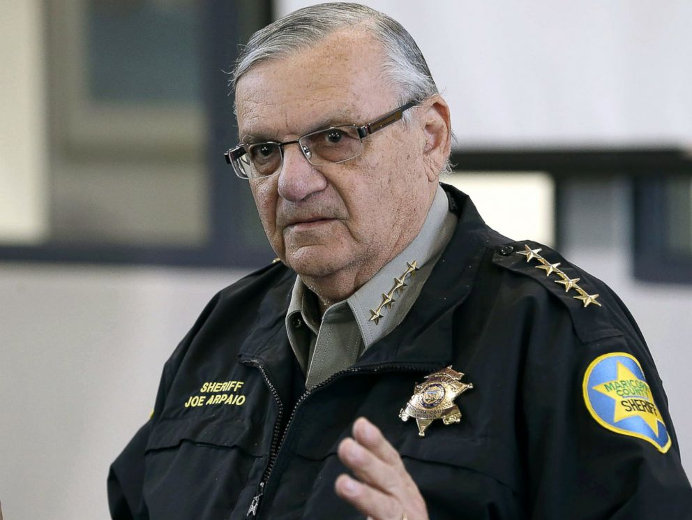 PHOTO: Maricopa County Sheriff Joe Arpaio addresses the media about a simulated school shooting in Fountain Hills, Arizona, Feb. 9, 2013.