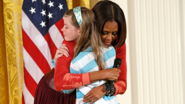 RT michelle obama jef 140424 16x9 608 Girl Surprises Michelle Obama With Unemployed Dads Resume