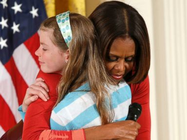 Girl Surprises First Lady With Unemployed Dad's Resume
