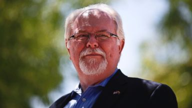 PHOTO: Democrat Ron Barber, former aide to Gabrielle Giffords and currently running for her former post, is seen at a voting center at St. Cyrils Catholic Church in Tucson, Ariz., June 12, 2012.