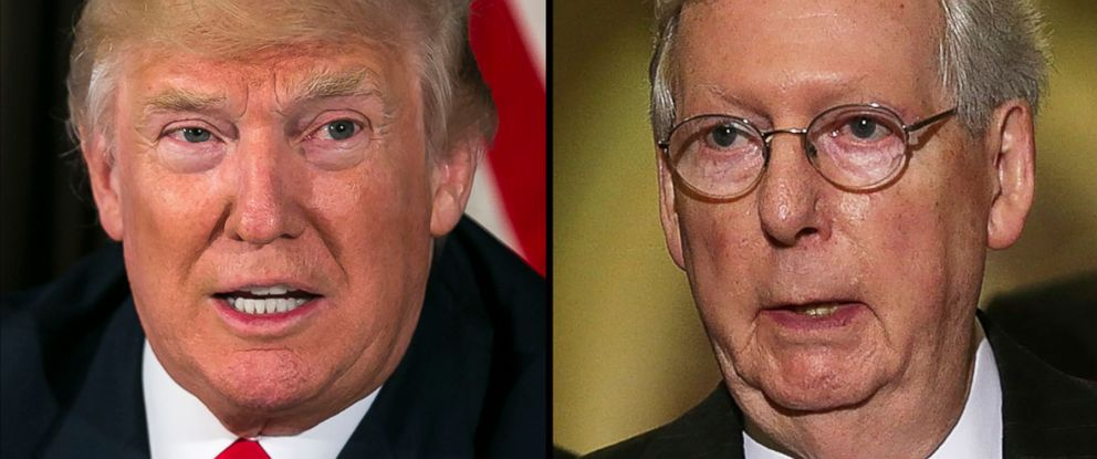 Image result for trump mcconnell