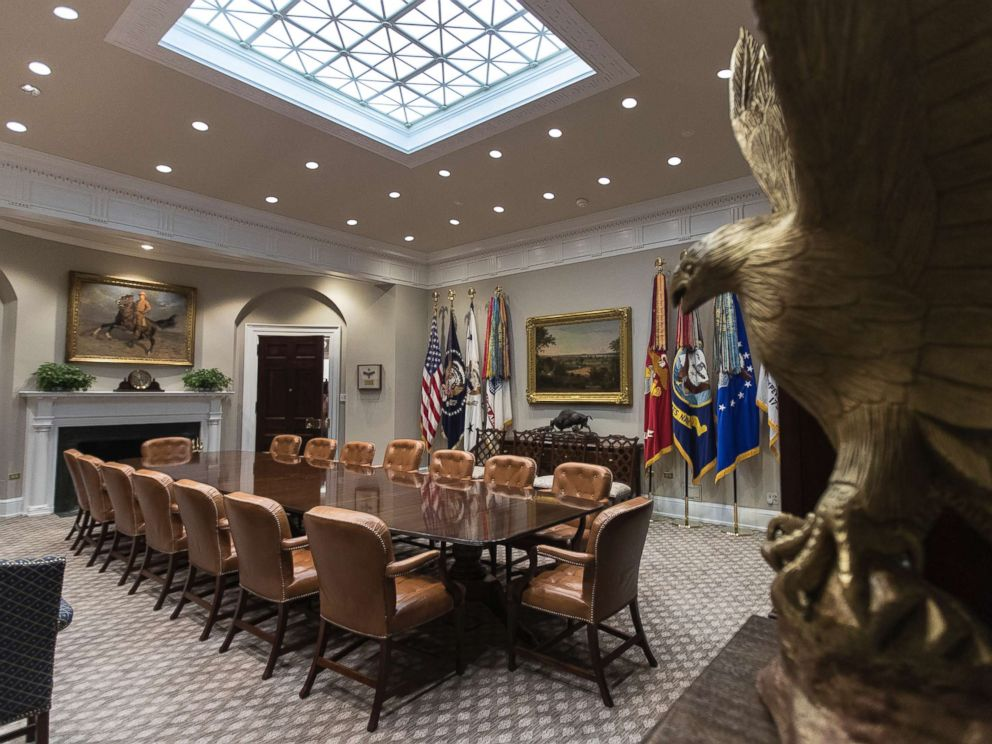 PHOTO: The newly renovated Roosevelt Room of the White House, Aug. 22, 2017.