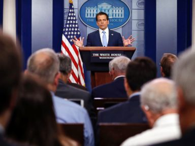 Scaramucci deflects questions on leaks to Priebus