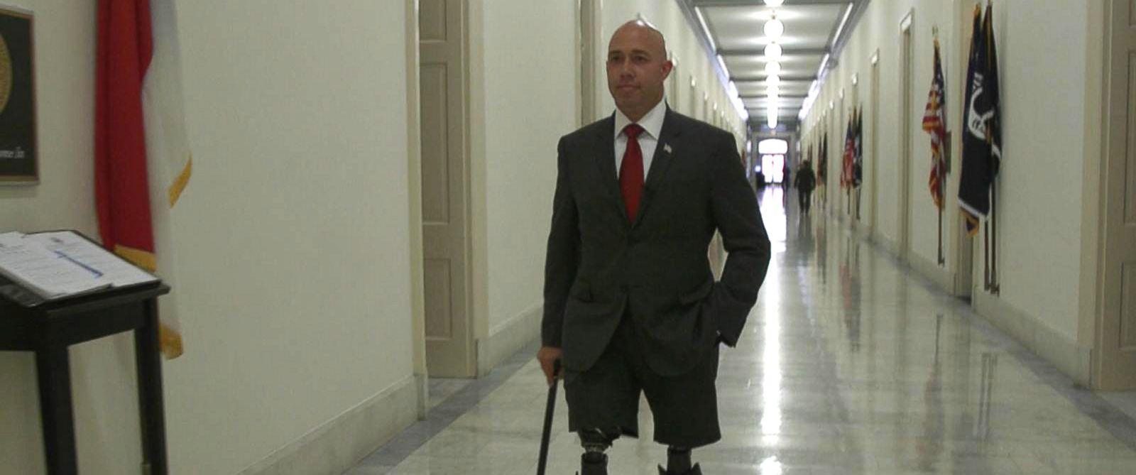 PHOTO: Freshman congressman Brian Mast discusses his transition to Congress.