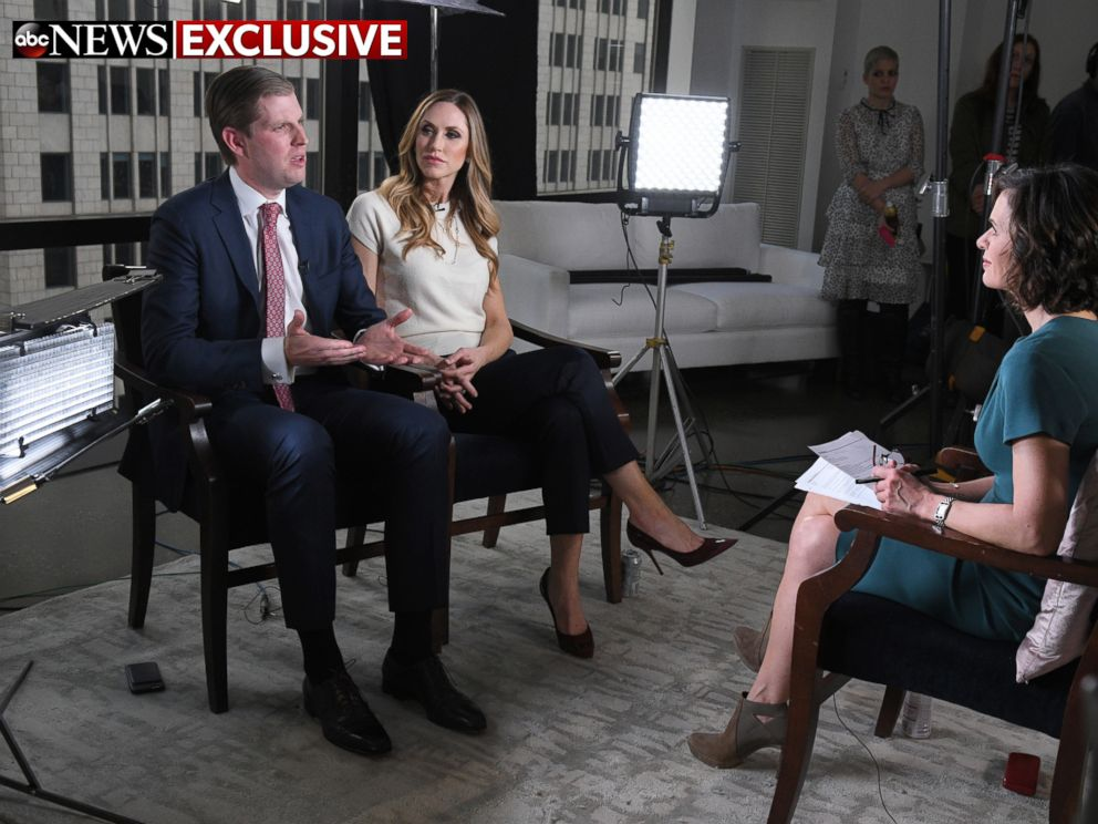PHOTO: ABCs Elizabeth Vargas interviews Eric Trump at Trump Tower, New York on Monday, Jan. 16, 2017.