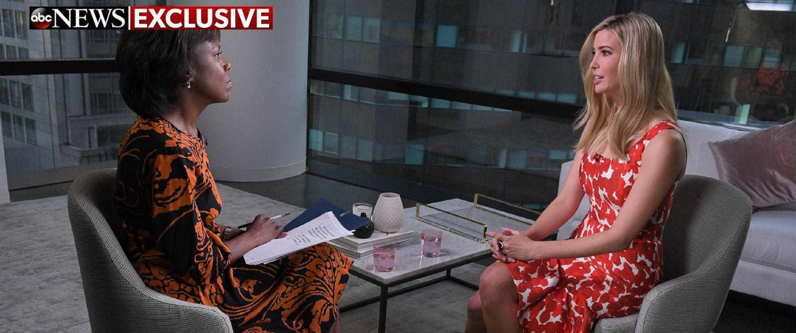 PHOTO: ABCs Deborah Roberts interviews Ivanka Trump at Trump Tower, New York on Monday, Jan. 16, 2017.