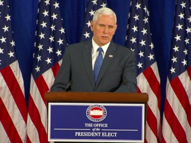 Pence Says Transition Finished 'on Schedule and Under Budget'