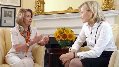 PHOTO:??Diane Sawyer interviews Nancy Pelosi.
