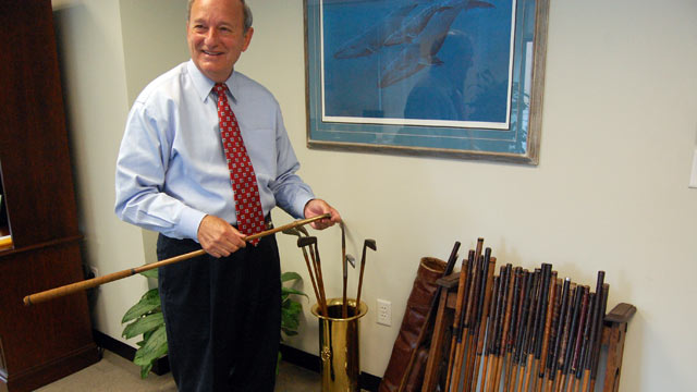PHOTO: Dan Danner likes golf, office parties, and lawsuits that challenge the constitutionality of President Obama?s health care law.