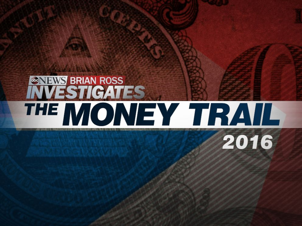 PHOTO: Each political season ABC News and the Brian Ross Investigative Unit follow the money on The Money Trail.